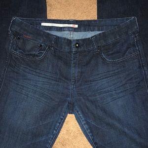 iT Dark Blue Wide Leg Trouser Style Jeans